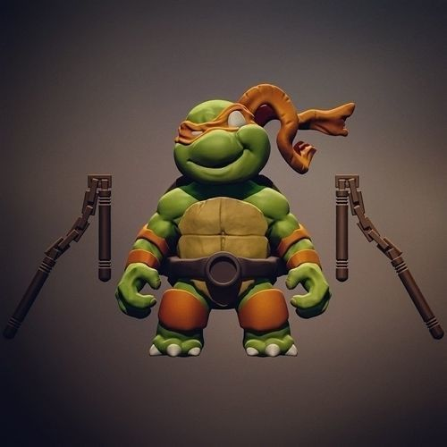 Chibi mutant ninja turtles - Mickey | 3D Print Model