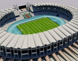 3D asset Zayed Sports City Stadium - Abu Dhabi