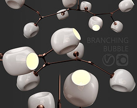 Branching bubble 8 lamps by Lindsey Adelman MILK COPPER 3D