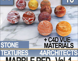 Marble Red and Materials Vol 1 3D