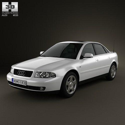 3D Model Audi A4 Sedan 1999