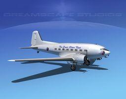 Douglas DC-3 Eastern Airlines 1 3D