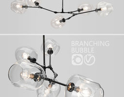 Branching bubble 5 lamps by Lindsey Adelman 3D model 1