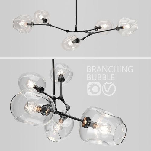 branching bubble 5 lamps by lindsey adelman clear black 3d model max obj mtl fbx 1