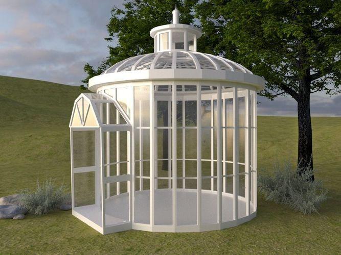 arbor for garden 3d model max 1