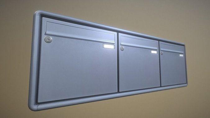 mailbox 2 -  low-poly-verion 3d model low-poly obj mtl 3ds fbx dxf stl blend 1