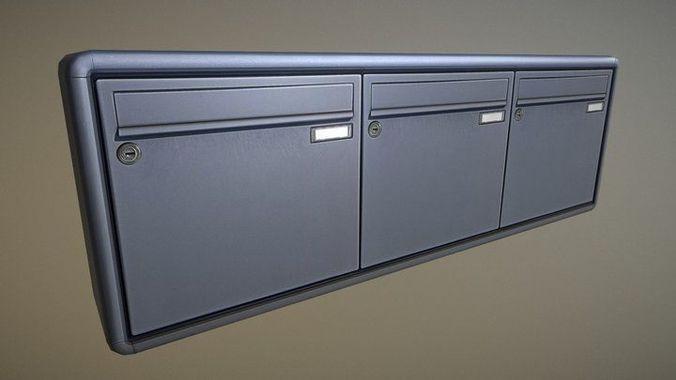 mailbox 2 -  very low-poly-version 3d model low-poly obj mtl 3ds fbx dxf stl blend 1