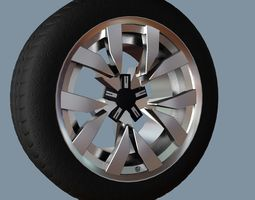 3D model realtime AS rims collection 6 - VW Montero