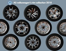 3D model AS rims collection - VW 2018