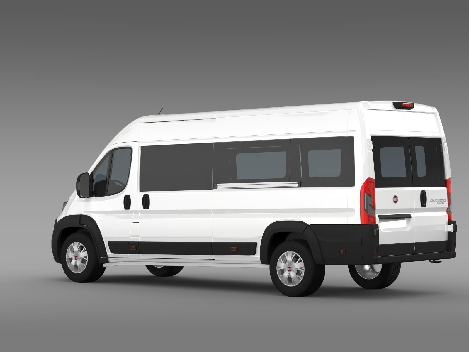 fiat ducato maxi minibus 2015 3d model max obj 3ds fbx c4d lwo lw lws. Black Bedroom Furniture Sets. Home Design Ideas