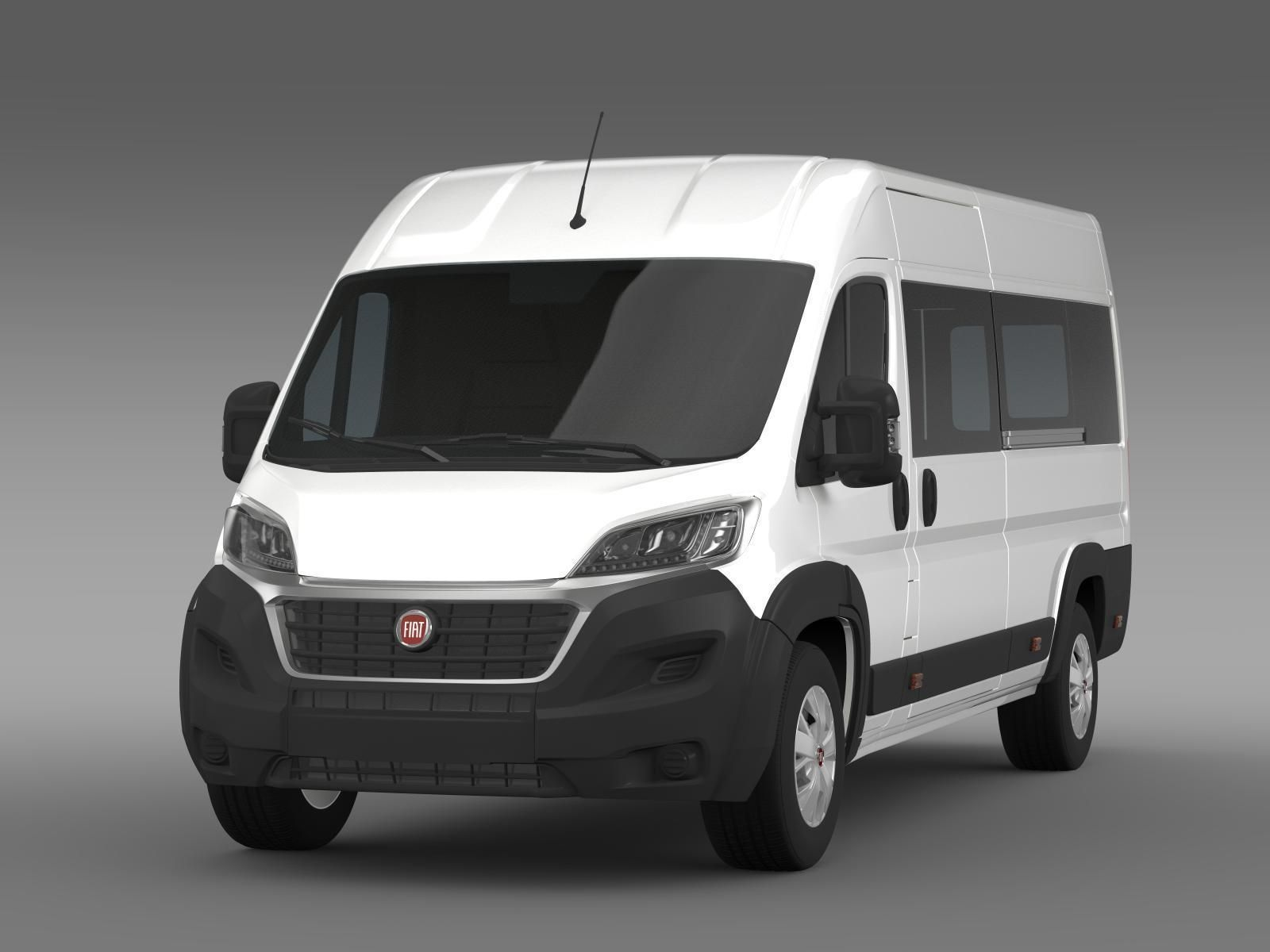 fiat ducato maxi minibus 2015 3d model max obj 3ds fbx c4d lwo lw lws. Black Bedroom Furniture Sets. Home Design Ideas