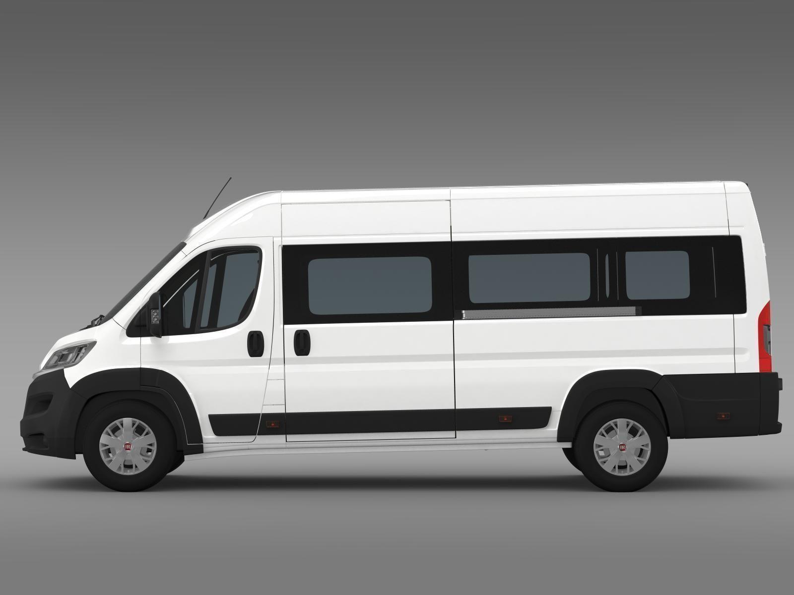 fiat ducato maxi minibus 2015 3d model max obj 3ds fbx. Black Bedroom Furniture Sets. Home Design Ideas