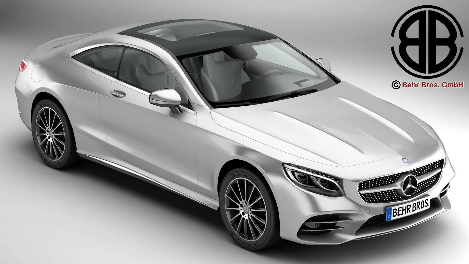 Mercedes S Class Coupe Amg Line 2018 3d Model