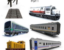 3D model Train Bundle Part 1
