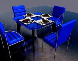 Dinning set 2 3D model