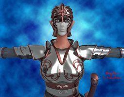 Female Elf Warrior 3D model