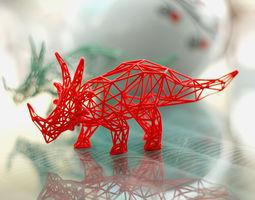 styracosaurus wireframe 3d printable model
