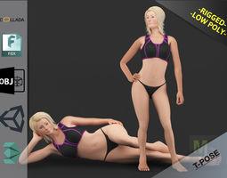 3D asset White Woman