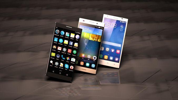 3 phones android full  3d model max obj mtl fbx 1