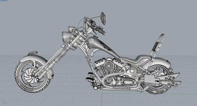 chopper 3d model obj mtl fbx ma mb 3dm 1