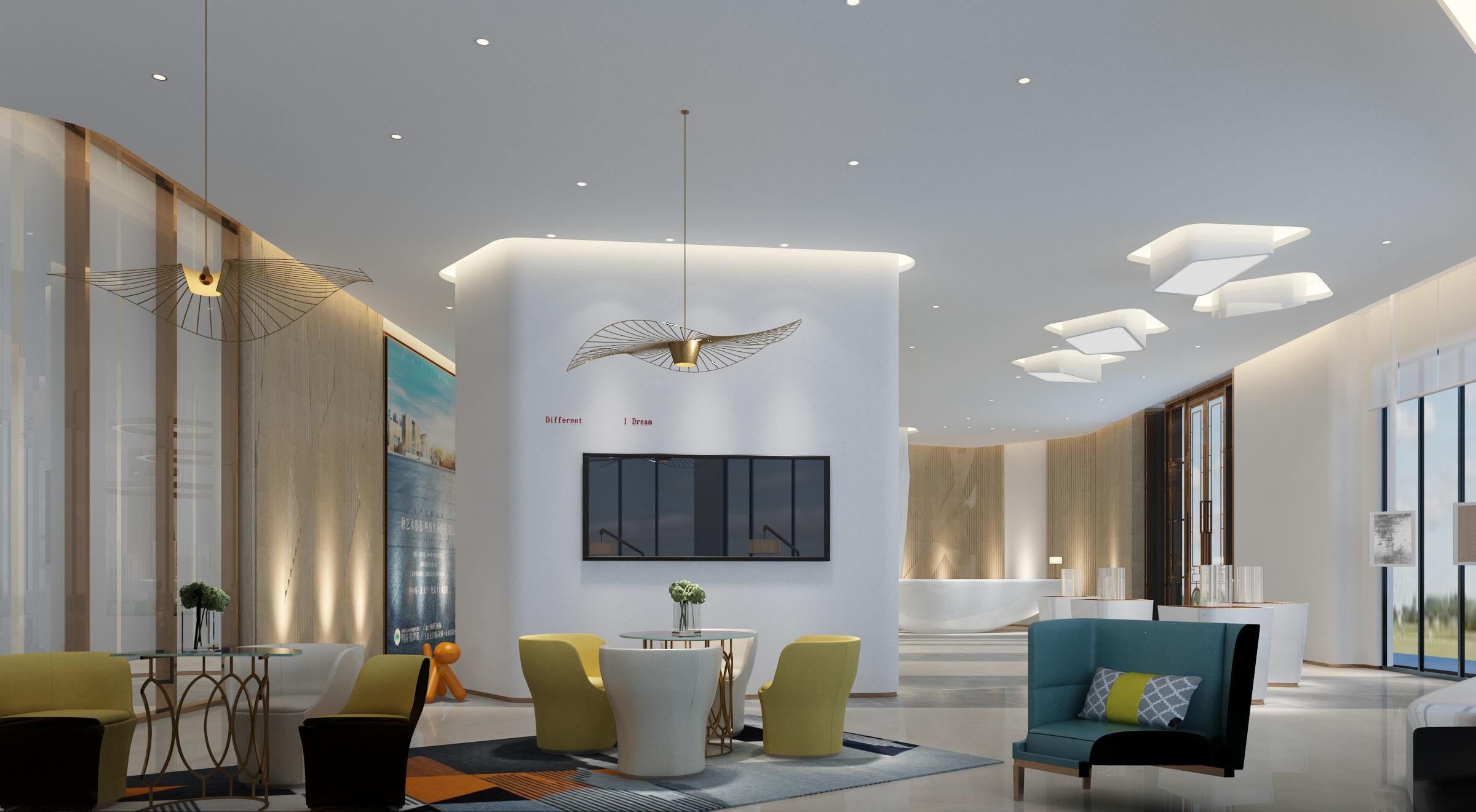 office reception interior. Detailed Office Reception Interior Scene 3d Model Max Fbx C4d R