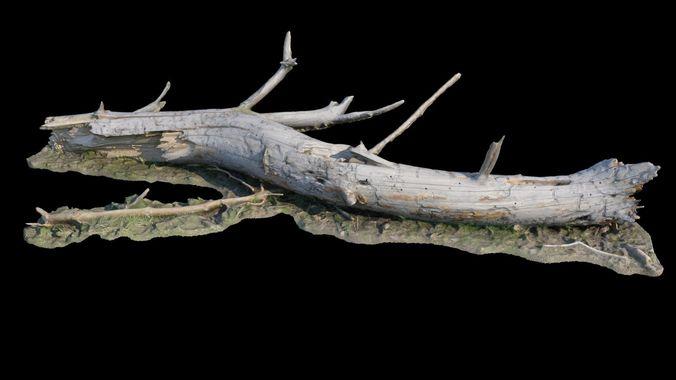 old log 3d model obj mtl fbx stl 1