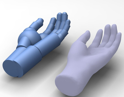 3d reverse engineered hand model using simple features