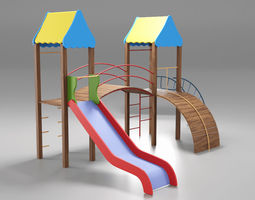 Cheerful Childrens Playground 3D model