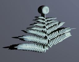 Fern necklace 3D Model