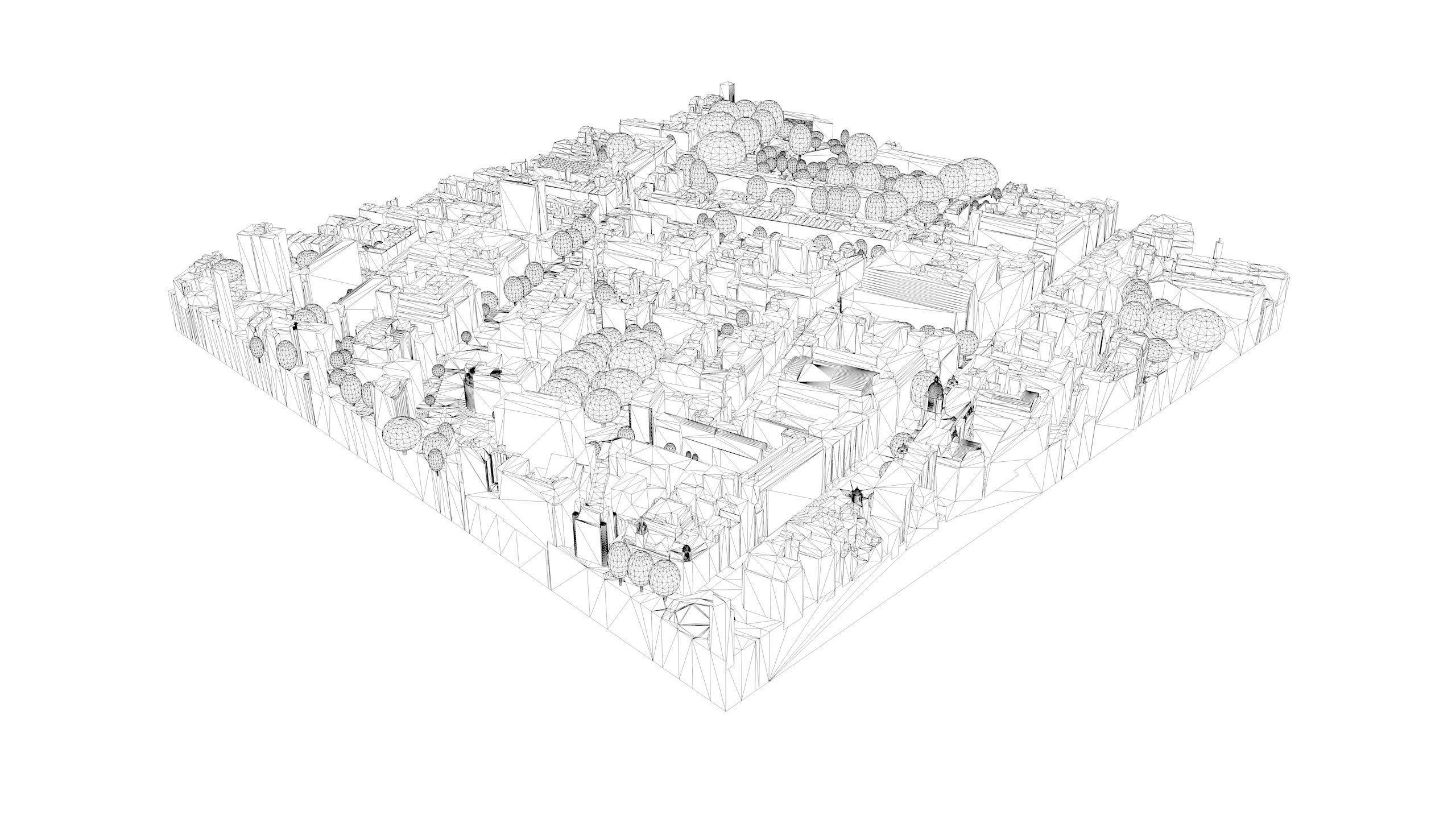 London City Tile Level 2 Block Tq3081 North 3d Model Diagram East Fbx Dwg 4