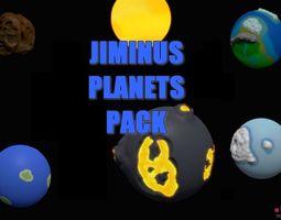 Jiminus Planets Pack 3D