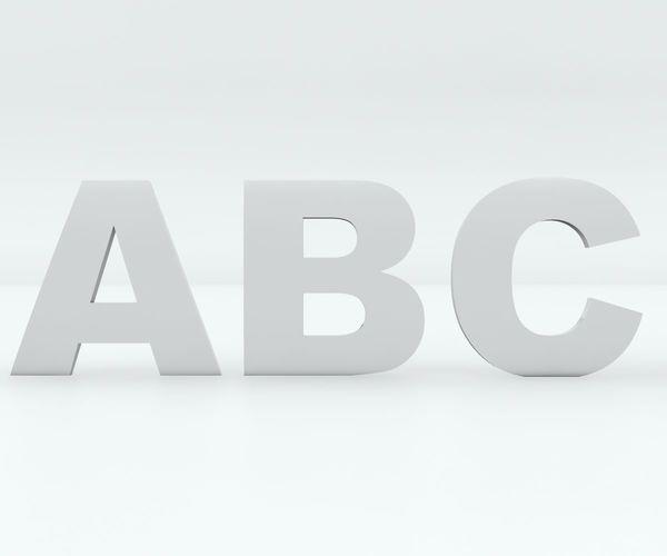 3d car badge letters for 3d printing 3d model max obj mtl 3ds fbx stl 1