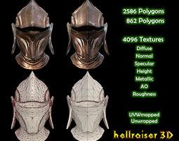 3D model Medieval Helmet - Textured - 2 Objects
