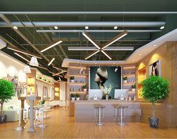 3D Barber Shop or Beauty Salon Interior
