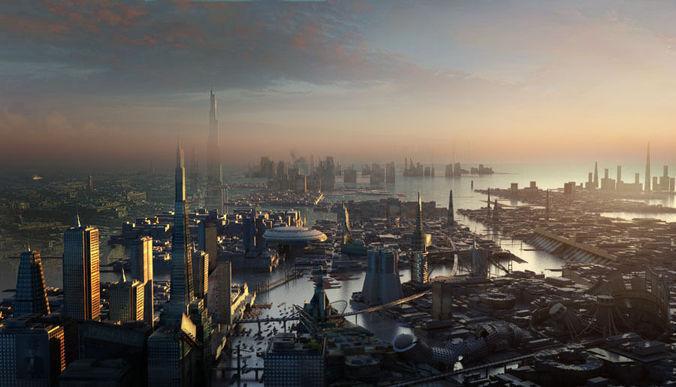 Sci Fi City 3D Model .max - CGTrader.com