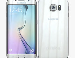 samsung galaxy s6 edge white pearl 3d model
