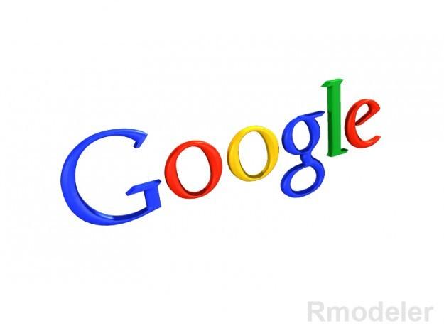 Google 3d Logo 3d Model Obj Ma Mb Dae