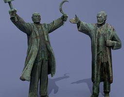 3D model Two monuments of Lenin