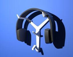 3D printable model Wall-Mounted Headphone Stand