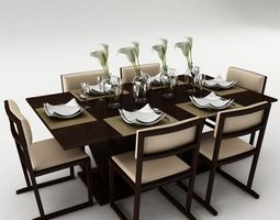 Dinning 3d models for Dining table latest model