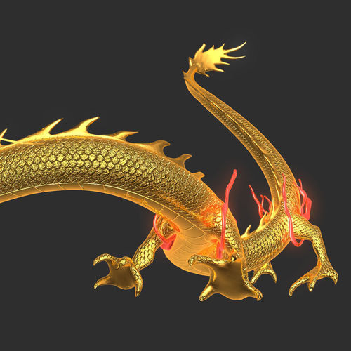 chinese dragon 3d model - photo #13