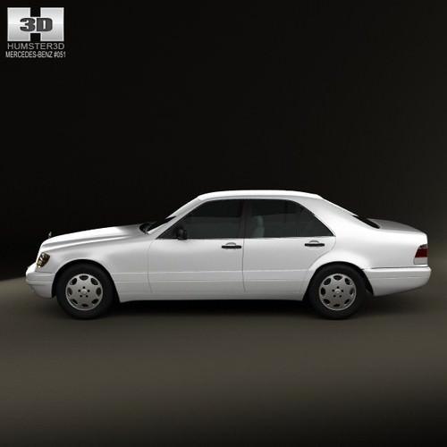 Mercedes-Benz S-class W140 1999 3D Model .max .obj .3ds