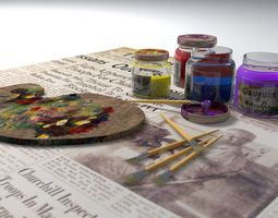 3D asset Art painting tools