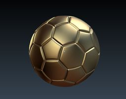 3D model Low-poly football ball for games vr visualization