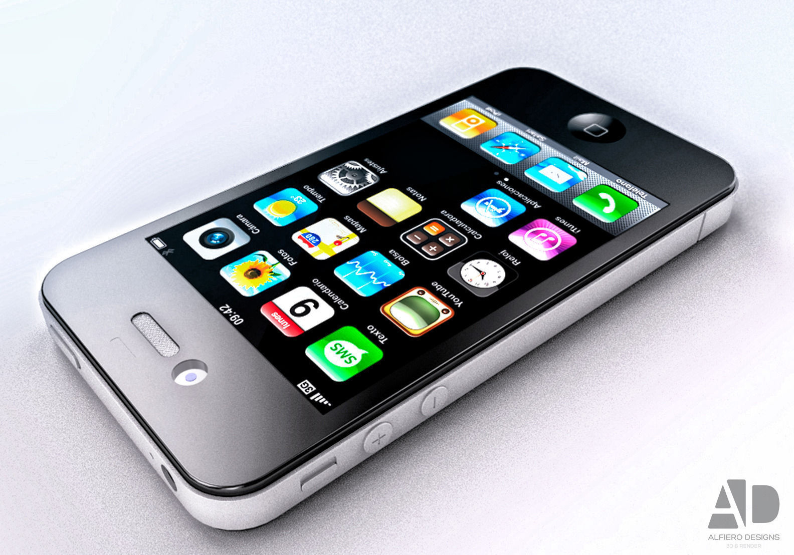 3 iphone models iphone 4 3d model 3d model obj 3ds 3dm cgtrader
