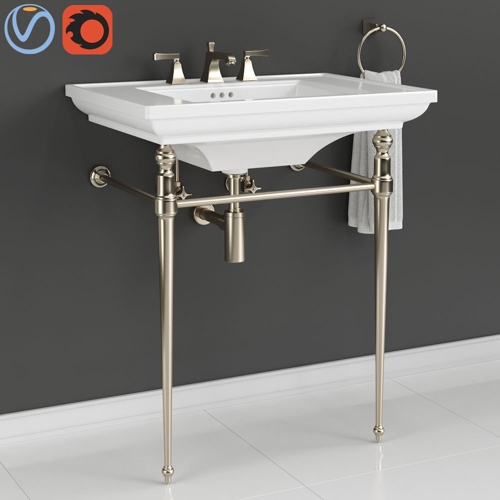 Kohler Memoirs Console Table Bathroom Sink 3d Model