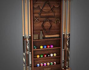 Cue Rack 01 Dive Bar - PBR Game Ready 3D model