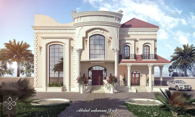New Classic Villa B D Model Max Tga Sbsar