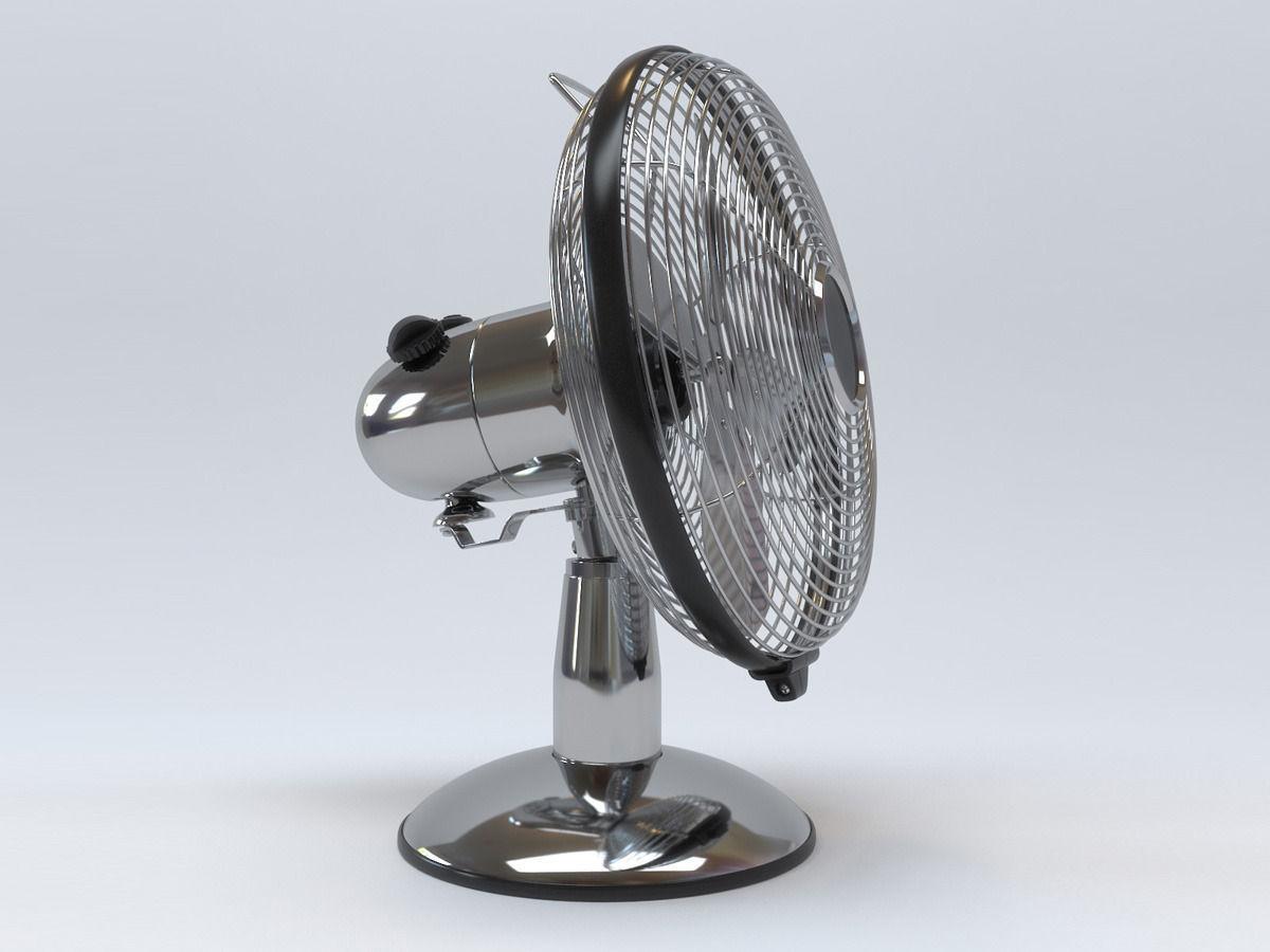 Antique Metal Table Fan 3d Model Max Obj Mtl 1