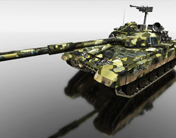 camouflage tank for games 3d model